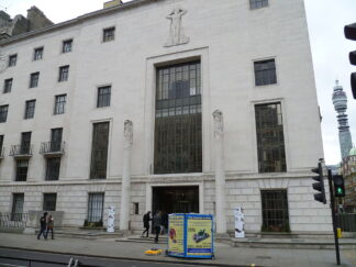 exterior of the headquarters for the Royal Institute of British Architects