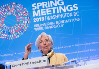 photo of International Monetary Fund's Christine Lagarde