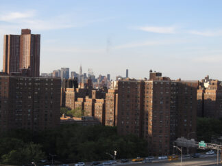 photo of public housing project in New York City.