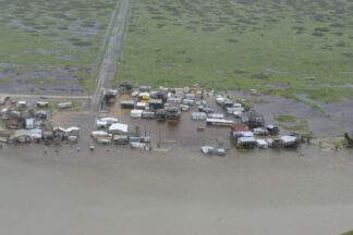Arial Image of flooding in Texas following Hurricane Harvey