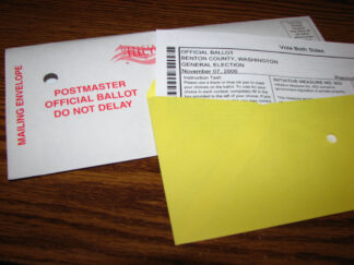 Photo of mail in ballot