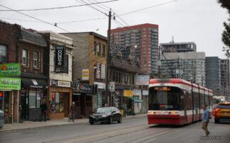 Image of street scene in Parkdale, Toronto