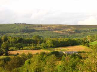 hills and fields in County Roscommon