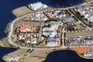 arial Image of mansions