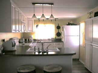 image of kitchen in a mobile home