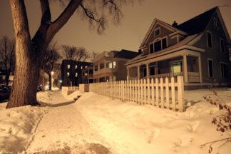 Image of Minneapolis neighbourhood at night