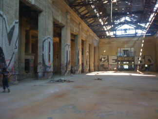 image of abandonned railway station in Detroit