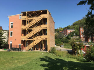 four storey apartment building in Cincinnatti