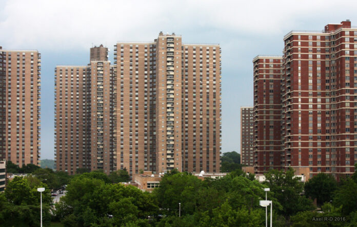 image of high rise buildings, which are part of co-op city in the Bronx
