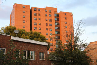 Image of a high rise public housing project in Albany New York