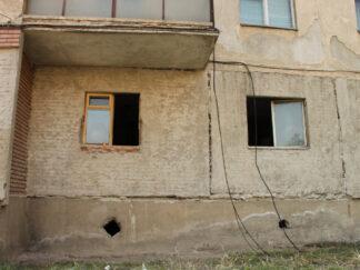new window framed into housing under repair