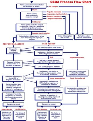 Flow chart illustrating steps to complete an Environmental Impact Assessment