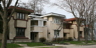 six modular units designed by Frank Lloyd Wright, constructed in Milwaukee before World War I