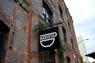 sign for barista coffee shop