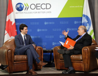 Prime Minister Trudeau meeting with OECD Director General Angel Gurria