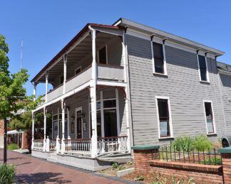 exterior of rooming house in historic district, Boise, Idaho