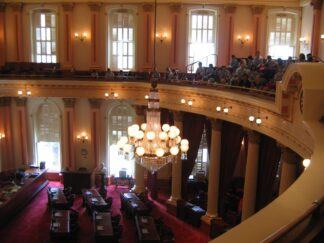 view of California Senate from visitors' gallery