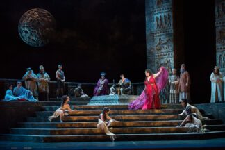 live performance of the dance of the seven veils, taken at the Florida Grand Opera