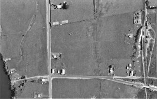 arial shot of Ohinewain New Zealand taken in 1940