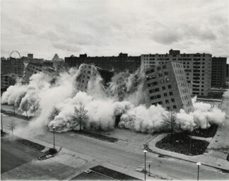 simultaneous demolition of multiple public housing highrises