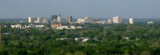 bird's eye view of Topeka Kansas