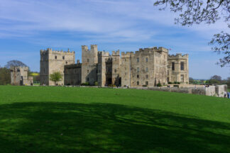 shot of raby castle
