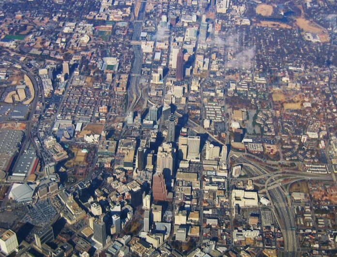 Air Photo of Downtown Atlanta, Georgia