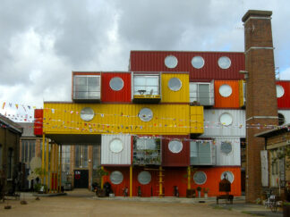 5 storey housing project built using shipping containers