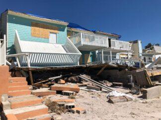 homes in Mexico Beach Florida, damaged following Hurricane Michael