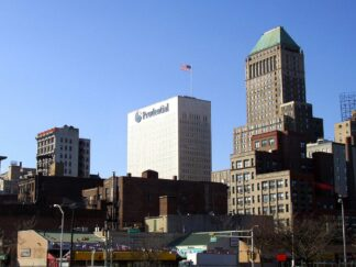 headquarters of prudential finanical in Newark, New Jersey