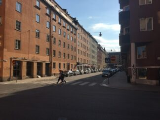 block in downtown Stockholm