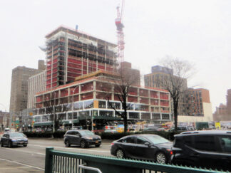 Construction on site in New York. The previeous building was demolished 70 years ago.