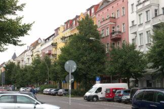 apartment buildings along Karl Marx Allee in Berlin
