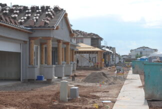 a row of new housing construction in Phoenix