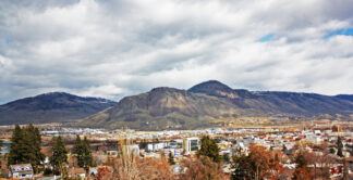 Kamloops BC from a train window