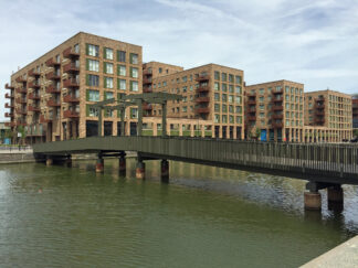 Nottinghill Genesis buildings on the waterfront in Newham, London