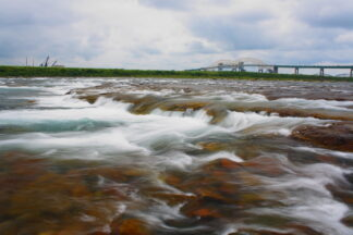 The St. Mary's rapids between lake Superior and Lake Huron