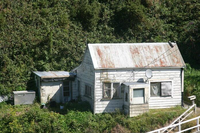 derelict house in Wellington, New Zealand
