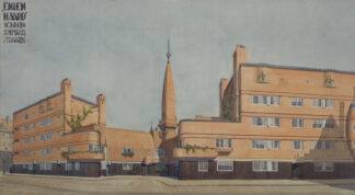 architectural sketch of social housing in Amsterdam