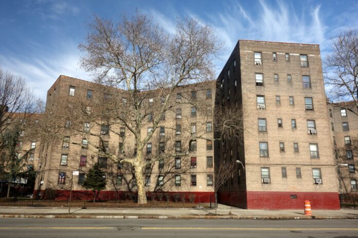 A mid 20th century New York City Public Housing High rise building
