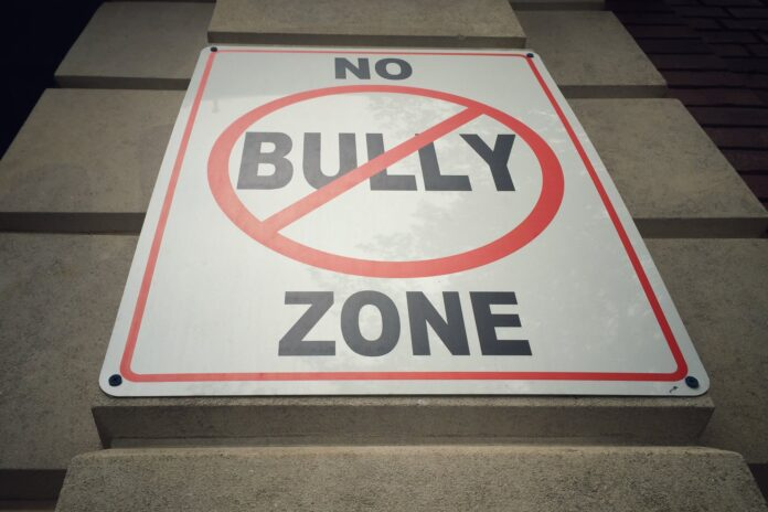 A sign saying 'no bully zone'