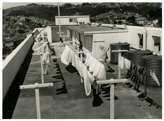 roof top laundry in social housing