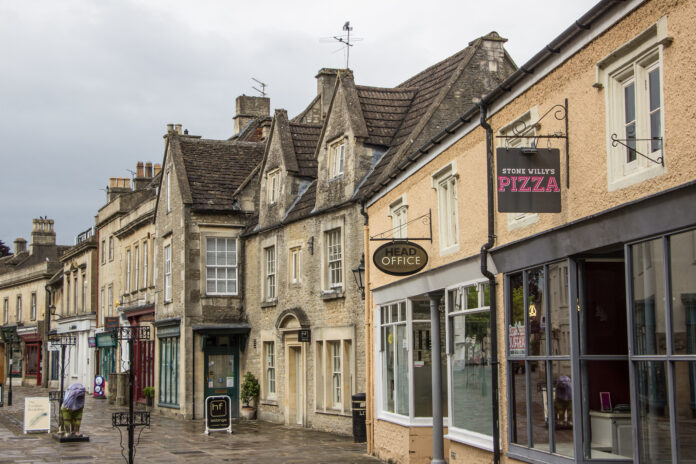 Businesses on high street in Corsham