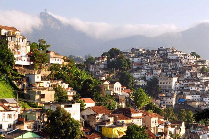 hillside favela in Rio de Janiero