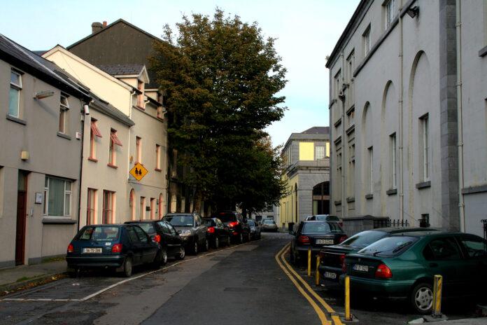 residential street in Galway, Ireland