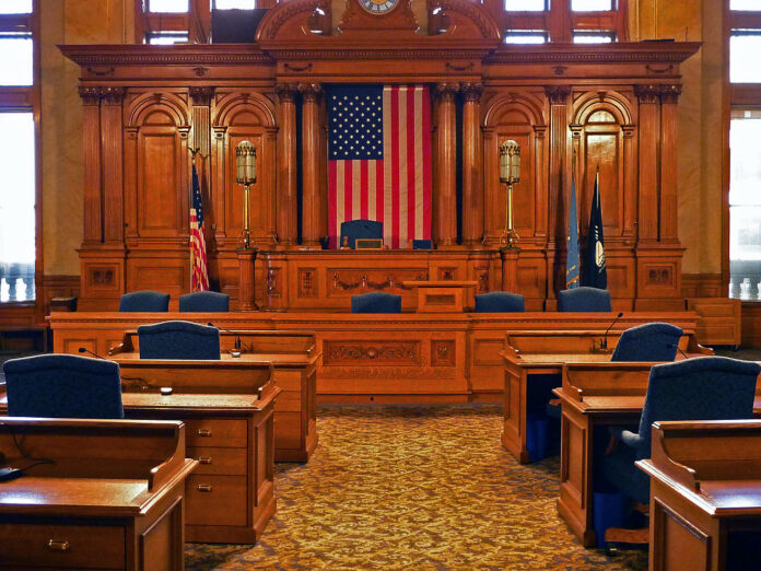 interior of Milwaukee council chamber