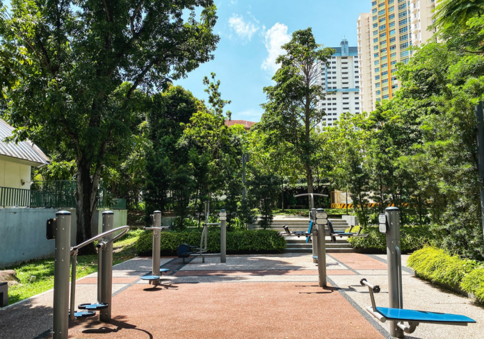 outdoor fitness equipment for chin ups and other exercises